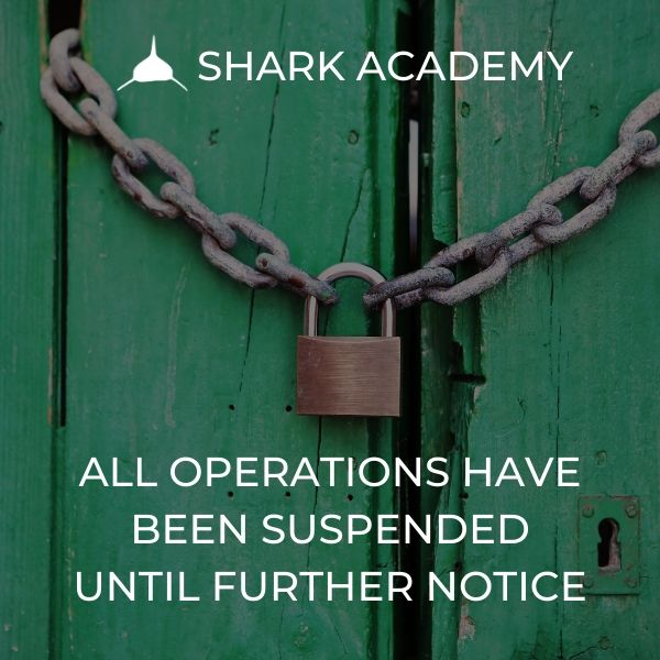 Shark Academy Suspended Operations